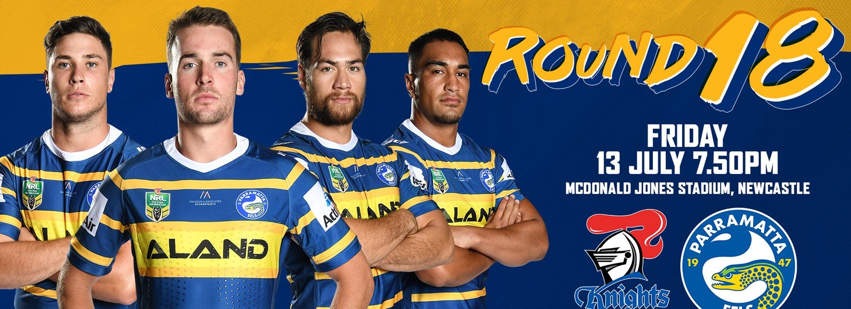 Knights v Eels Round 18 Team List
