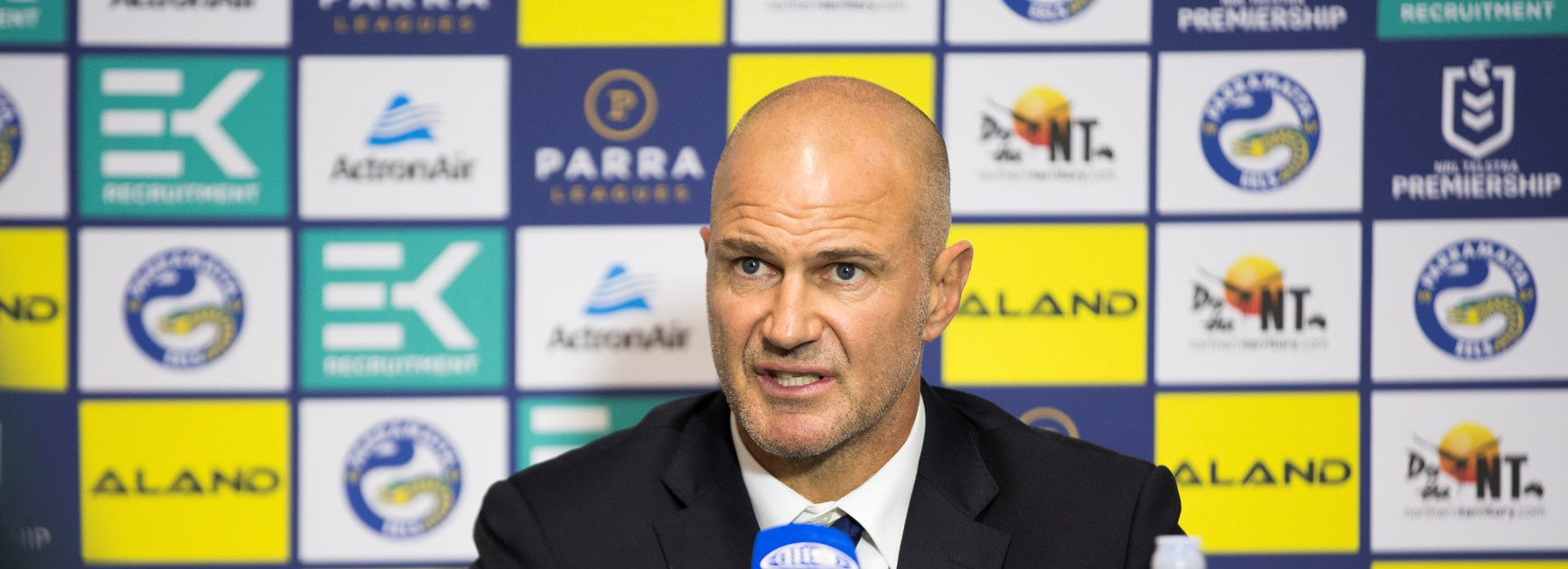 Arthur pleased with Eels' improved defence