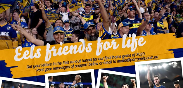 Get your letters in the Eels' runout tunnel
