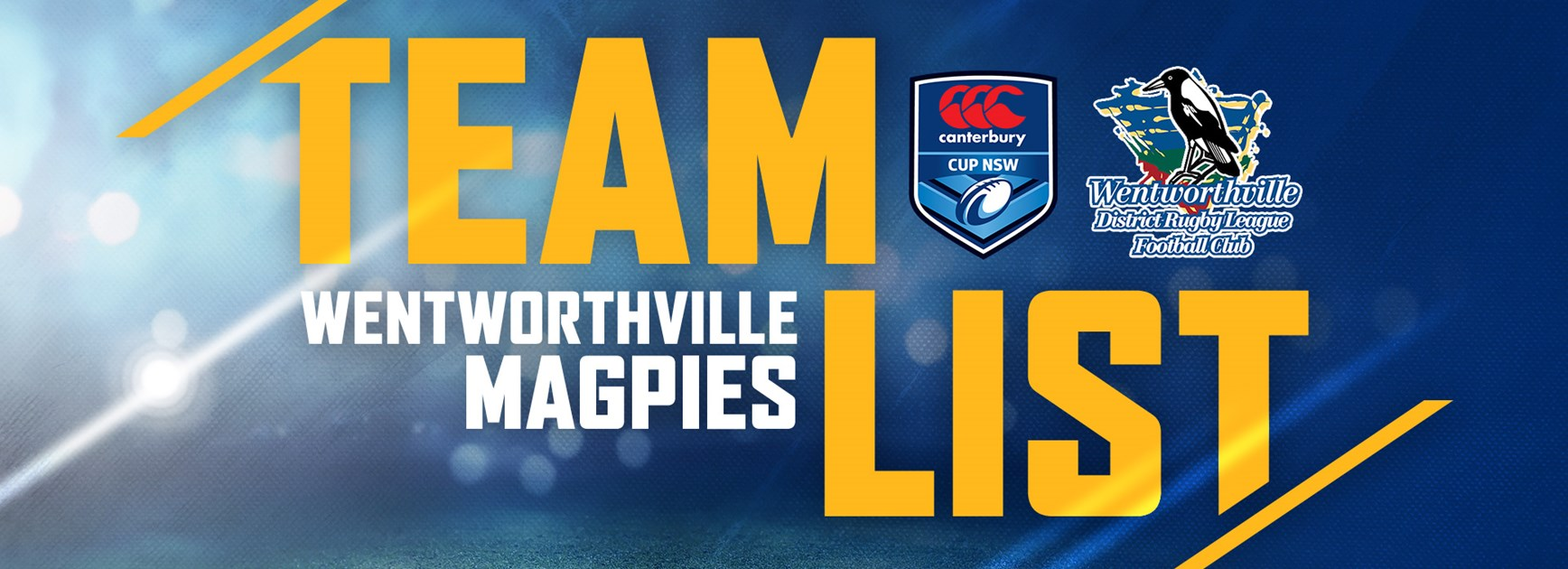 Wentworthville Magpies v Panthers - Elimination Final Team List