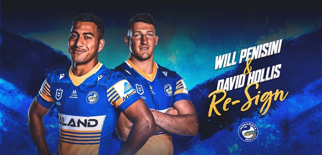 Parramatta Eels extend contracts for Penisini and Hollis