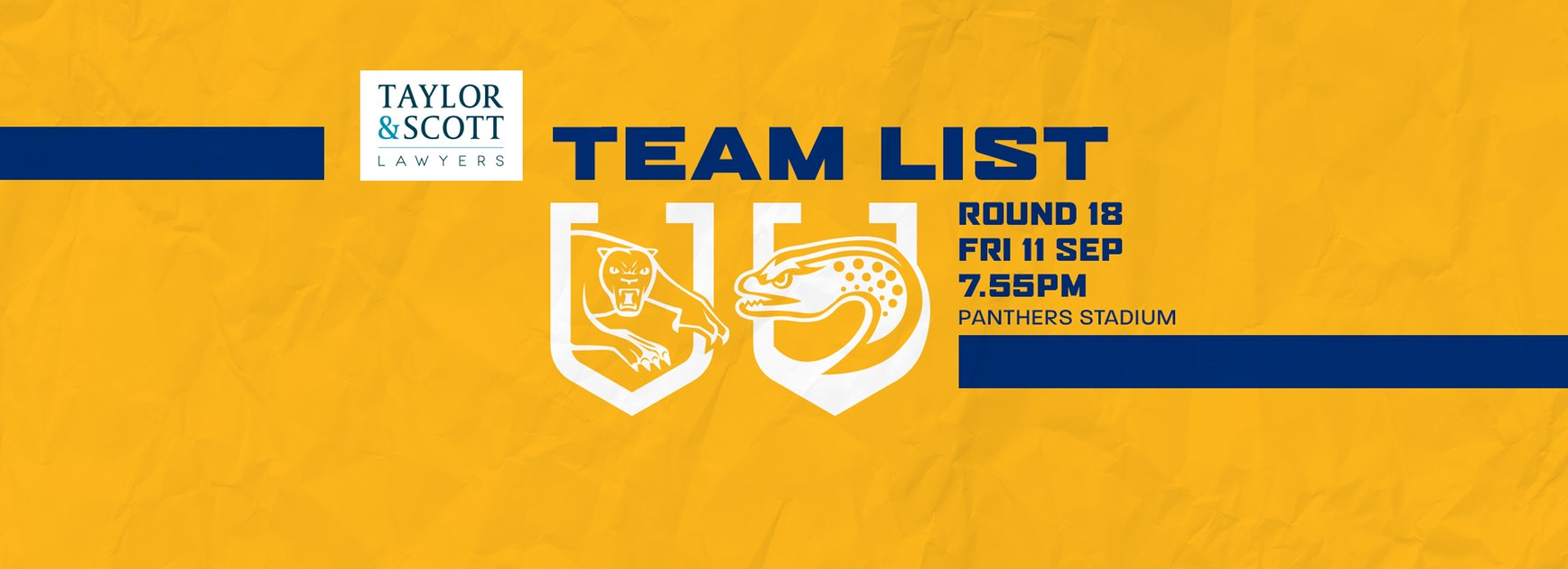 Team List: Panthers v Eels, Round 18