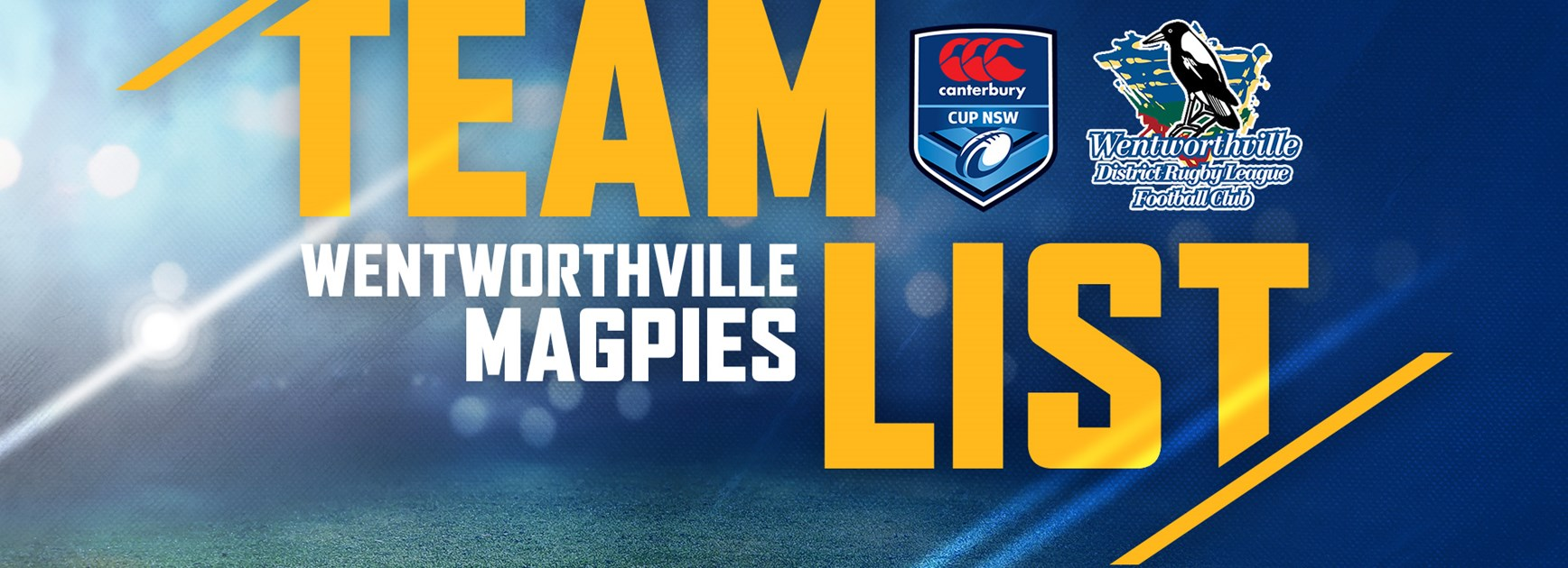 Wentworthville Magpies v Knights, Canterbury Cup Team List
