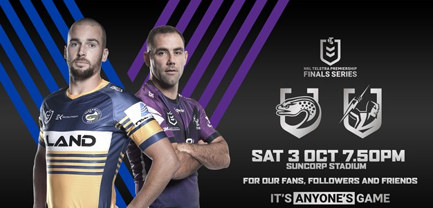 Storm v Eels - Finals Week 1 details confirmed