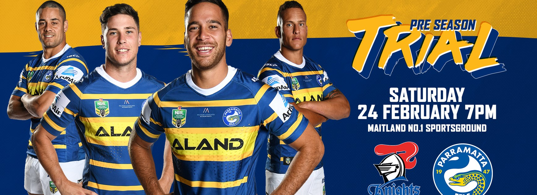 Eels name squads for pre-season trial