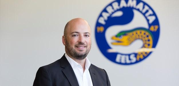 Interim CEO Sarantinos takes over full-time at Parramatta