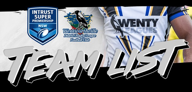 Wentworthville Magpies Round 12 Team List