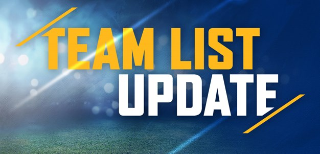 Team List Update: Cowboys v Eels, Round Ten