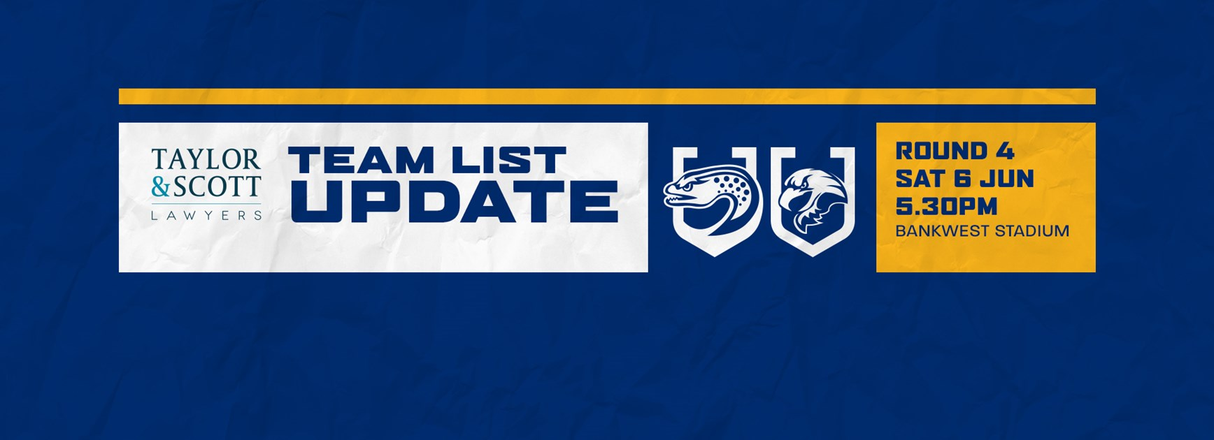 Team List Update: Eels v Sea Eagles, Round Four