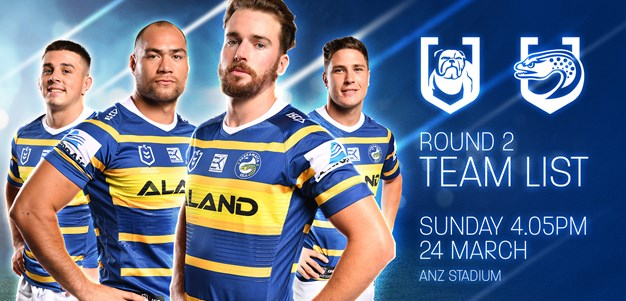 Team List: Bulldogs v Eels, Round Two
