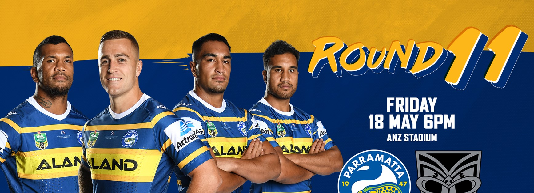 Eels v Warriors Round 11 Team List