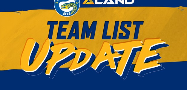 Eels v Sea Eagles Team List Update