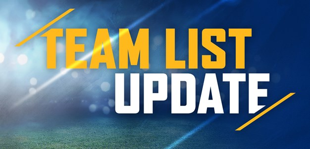 Team List Update: Bulldogs v Eels, Round Two