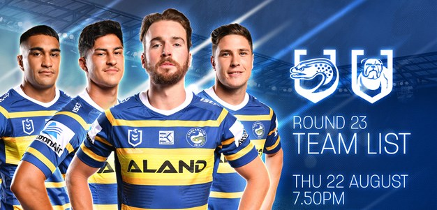 Eels confirm squad for Bulldogs match at Bankwest Stadium