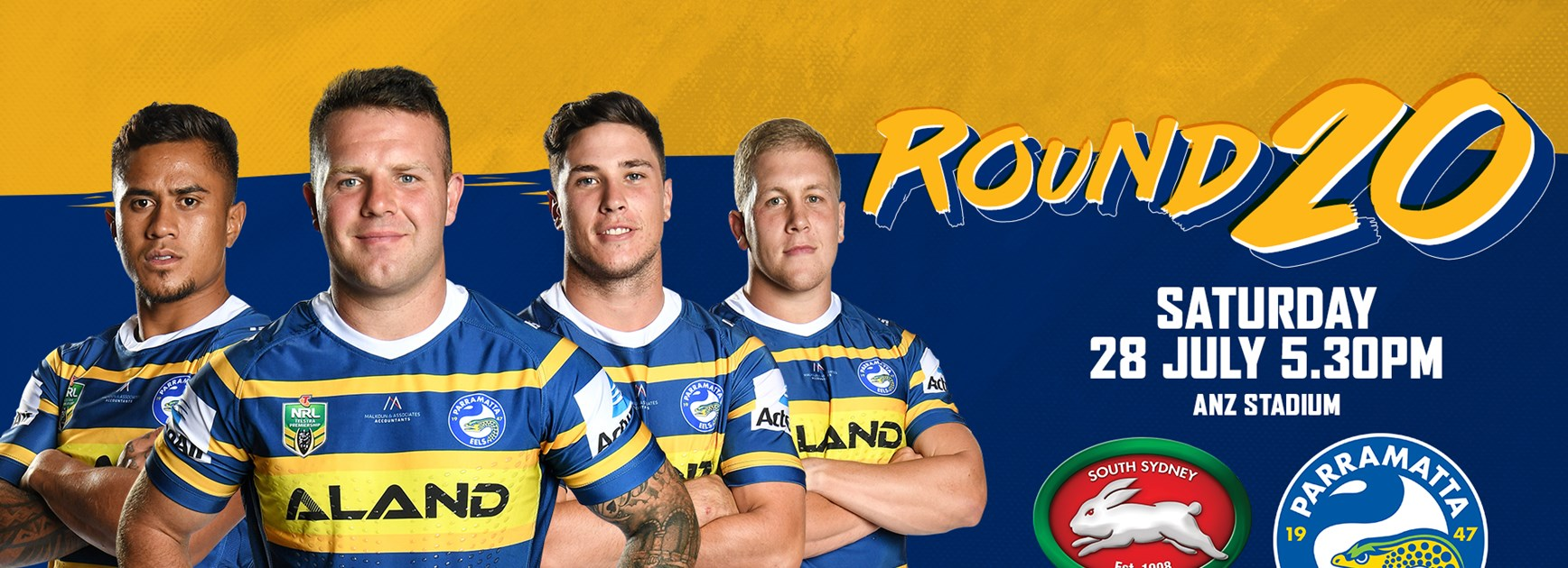 Rabbitohs v Eels Round 20 Team List
