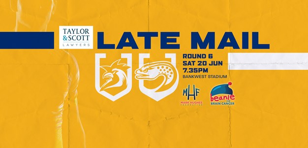 Late Mail: Roosters v Eels, Round Six