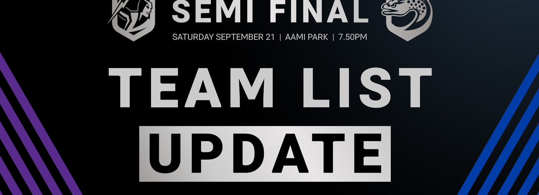 Storm v Eels, Semi Final – Team List Update
