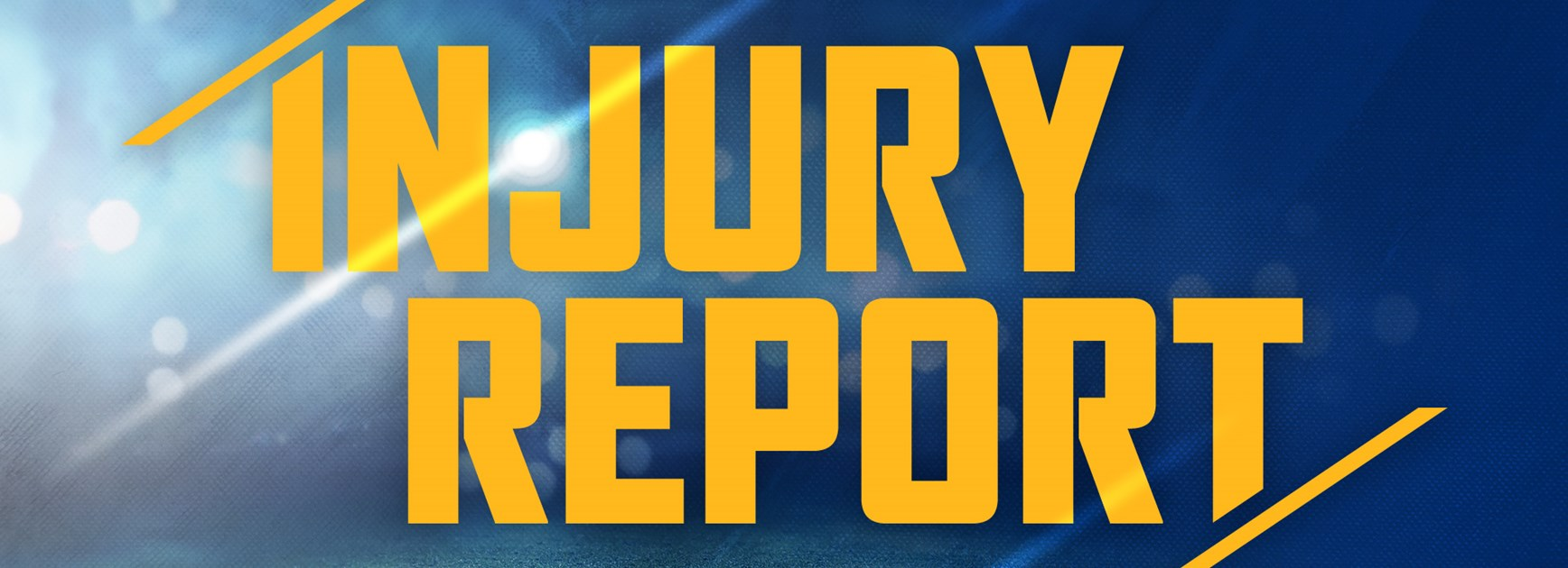Injury Report - Round One