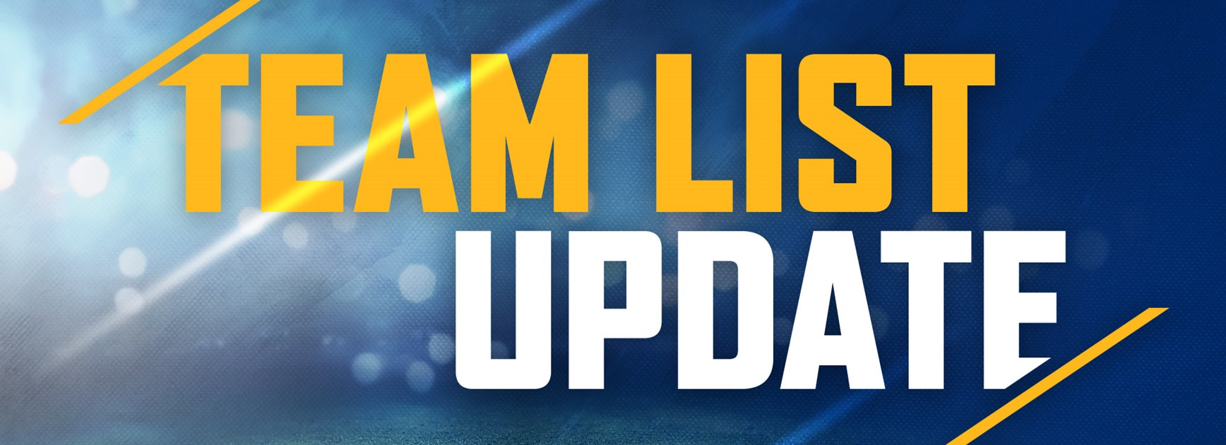 Team List Update: Storm v Eels, Round Nine