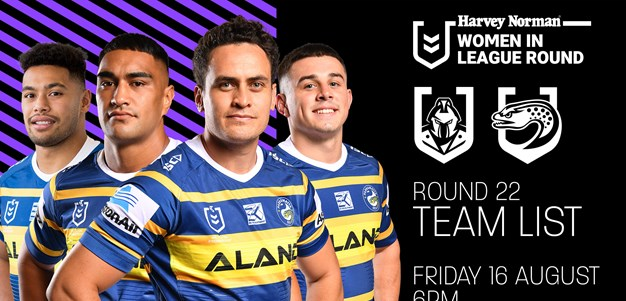 Team List: Titans v Eels, Round 22