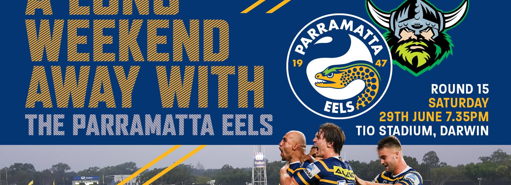 Join us for a long weekend away with the Parramatta Eels!