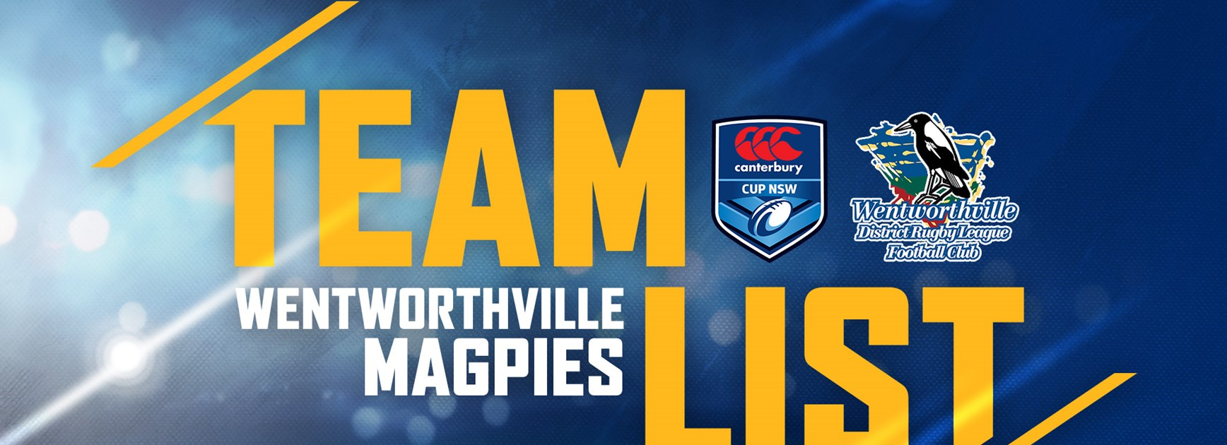 Wentworthville Magpies - Round Five Team List