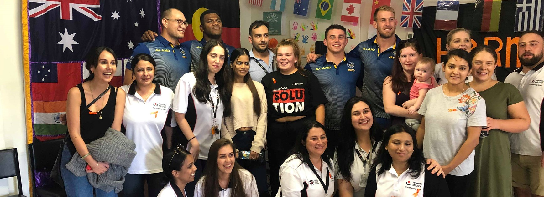Eels attend Parramatta Mission Harmony Day event