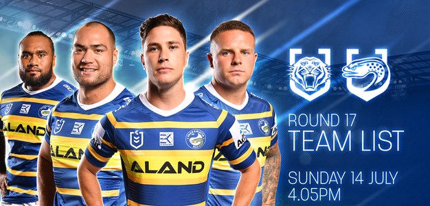 Eels Team List v Wests Tigers, Round 17