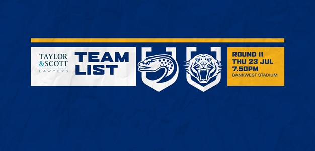 Team List: Eels v Wests Tigers, Round 11