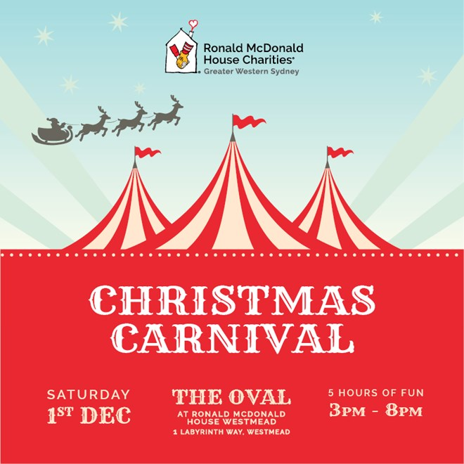 Christmas Carnival Poster.Ronald Mcdonald House Westmead Christmas Carnival Eels