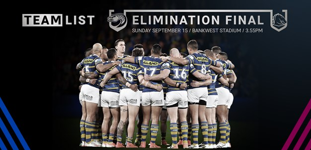 Eels v Broncos, Elimination Final Team List