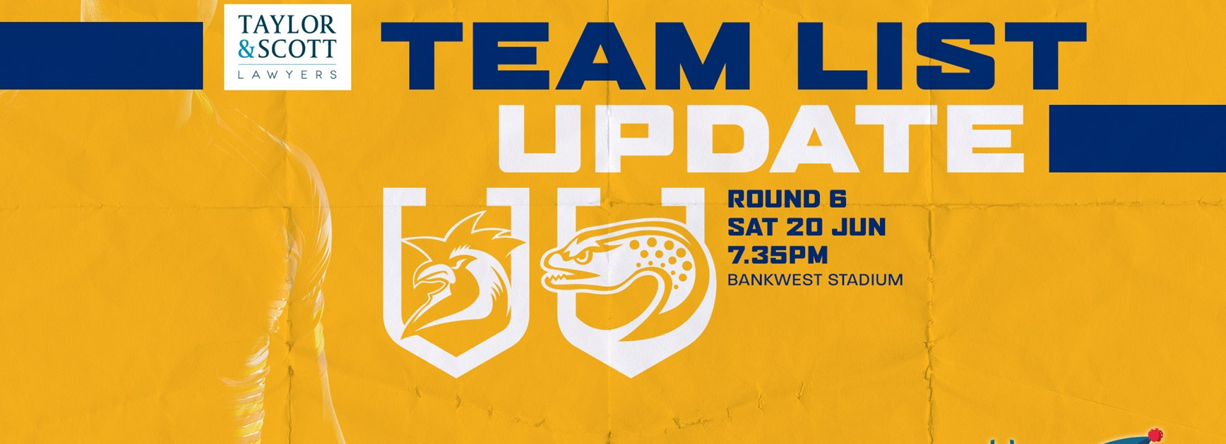 Team List Update: Roosters v Eels, Round Six