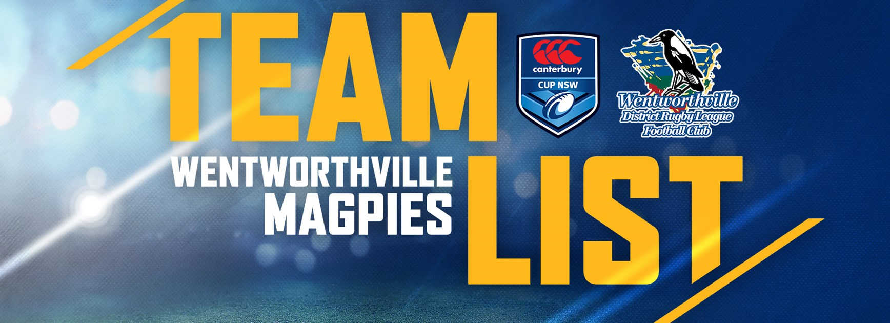 Wentworthville Magpies: Round Six Team List