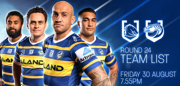 Team List: Broncos v Eels, Round 24