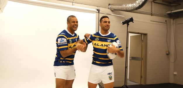 Eels play it up for the cameras