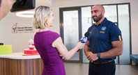 Mannah speaks at Ronald McDonald House Westmead opening
