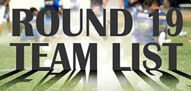 Round 19: Eels NRL Team List