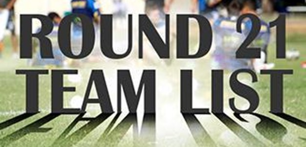 Round 21: Eels NRL Team List