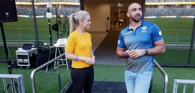 Mannah walks through Bankwest Stadium Field Club