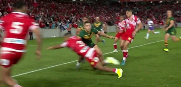 Jennings goes over for Tonga