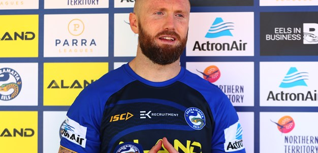 Jordan Rankin trains with the Blue & Gold for the first time