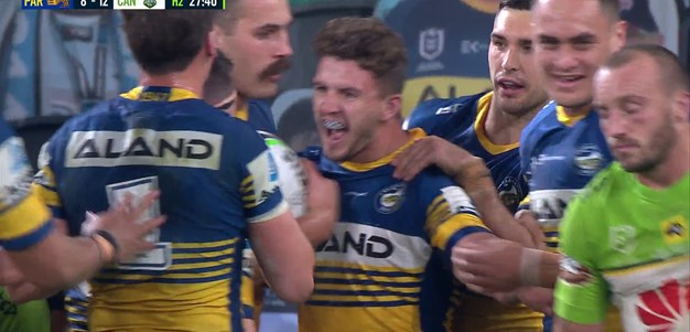 Mahoney conjures try for Stone and the Eels take the lead