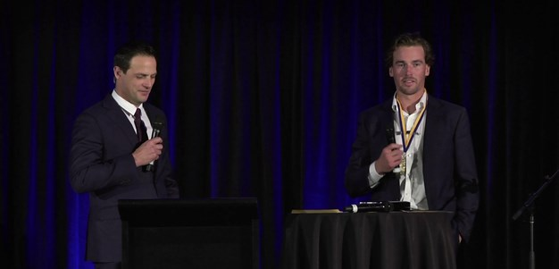Eels accept awards at Ken Thornett Medal 2020