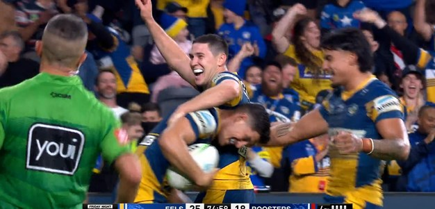 Brown try secures competition points for the Eels