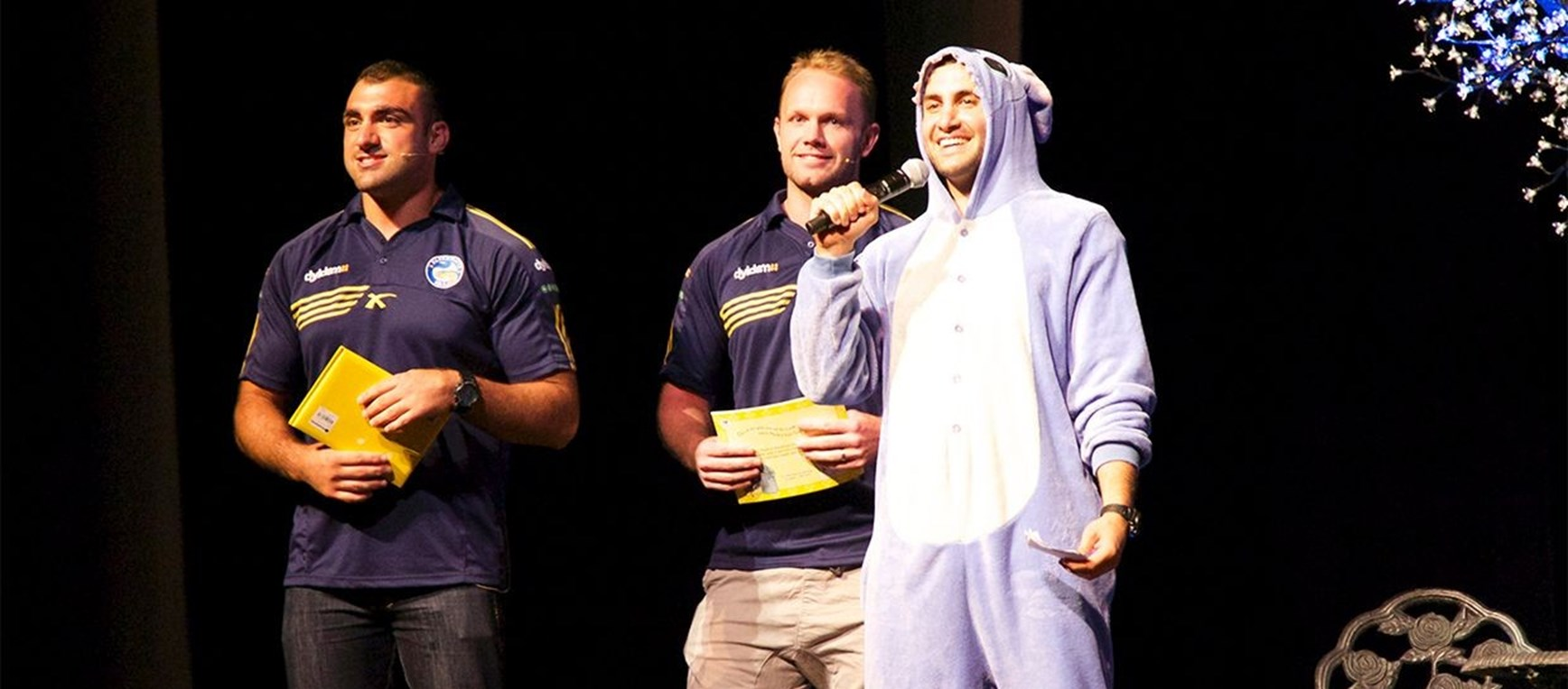 Mannah and Gower visit 'Stories from the Pyjamaverse'