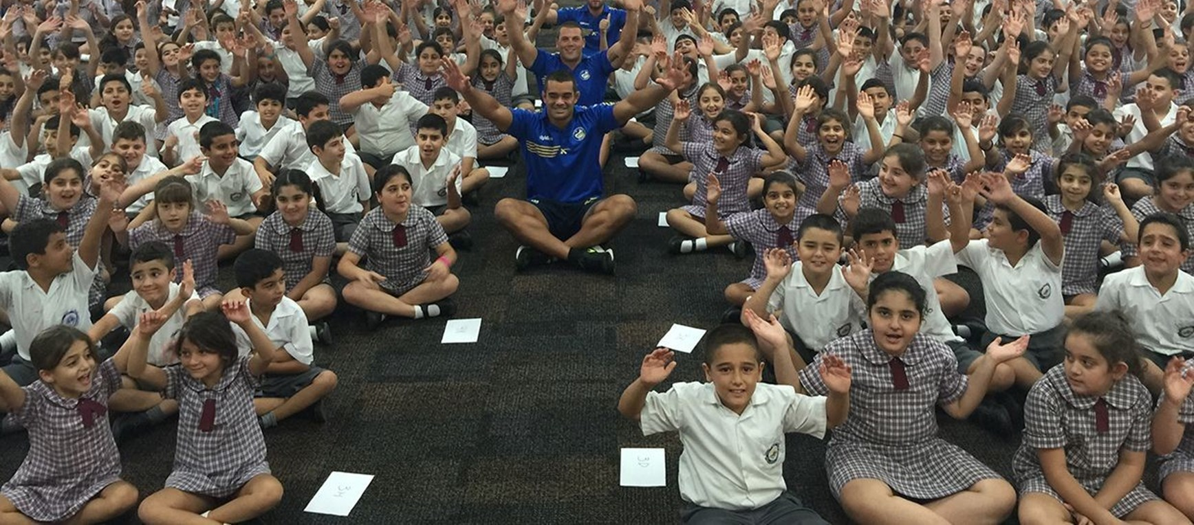 Eels squad members cover their #NRLWellbeing visit