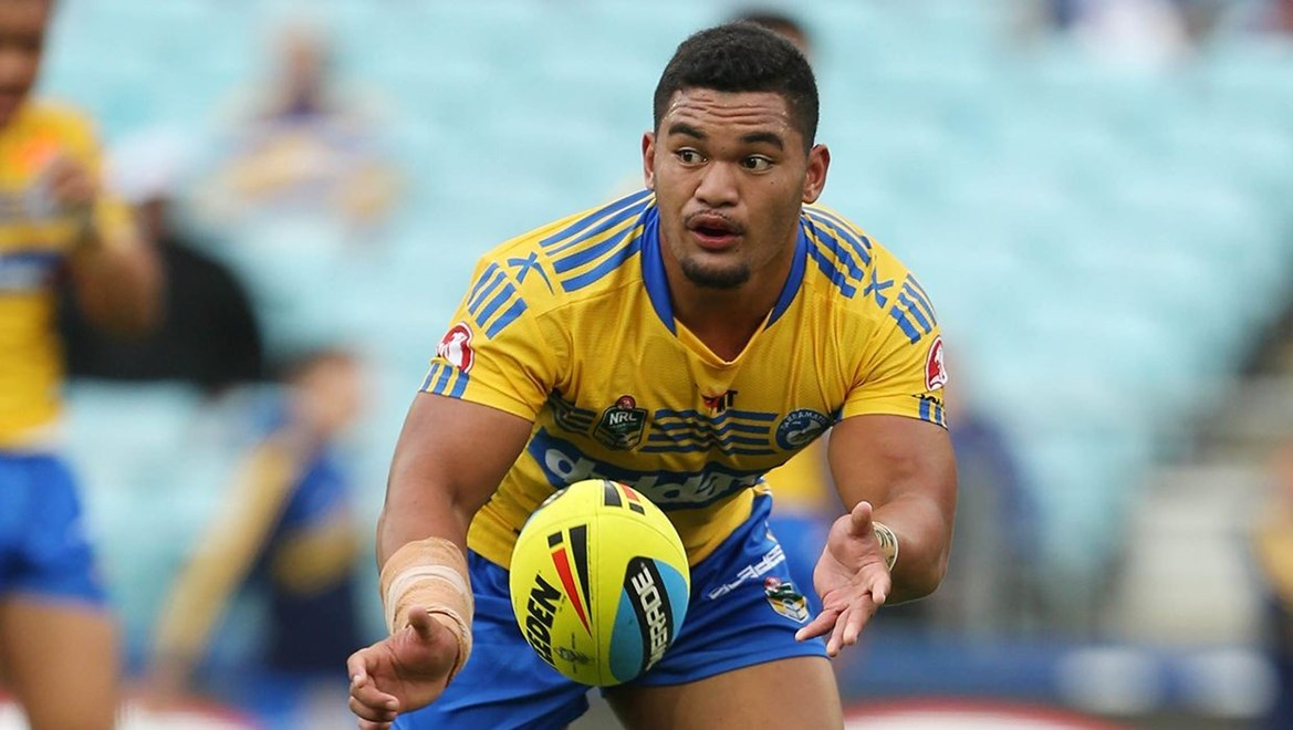 Denzal Tonise : Digital Image by Robb Cox ©nrlphotos.com:  :NYC Rugby League - Canterbury Bankstown Bulldogs V Parramatta Eels at ANZ Stadium, Homebush. Friday March 13th 2015.
