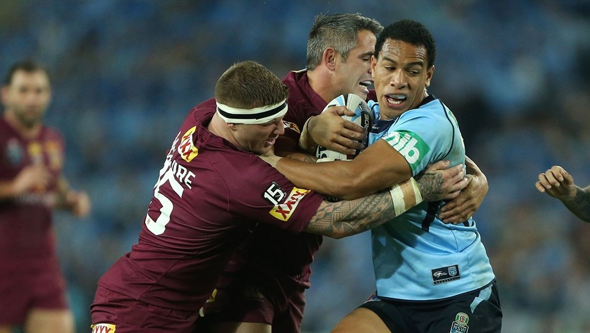 Digital Image by Anthony Johnson copyright © nrlphotos.com:  Will Hopoate : 2015 NRL State of Origin Newcastle New South Wales Blues vs Queensland Maroons at ANZ Stadium Wednesday May 27th 2015