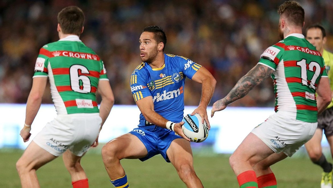 :Digital Image by Grant Trouville © NRLphotos  : 2015 NRL Round 4 - Parramatta Eels v South Sydney Rabbitohs at Parramatta Stadium Friday 27th of March 2015.