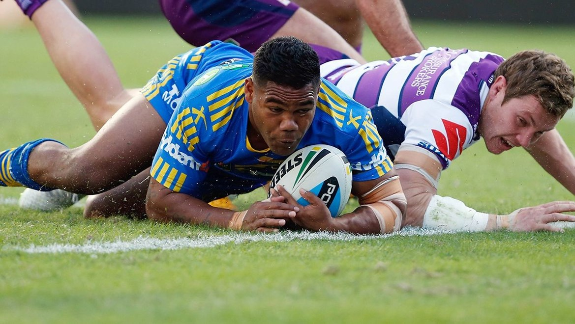 Chris Sandow is denied a try for a double movement. Photo: Robb Cox © nrlphotos.com